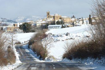 Días de agua,  frío y nieve  en Tierra Estella