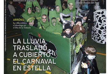 CALLE MAYOR 554 – LA LLUVIA TRASLADÓ A CUBIERTO EL CARNAVAL EN ESTELLA