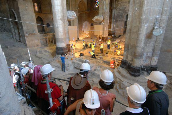 Comienzan las visitas a las obras de San Pedro de la Rúa