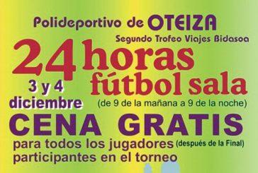 Trofeo 24 horas de Fútbol Sala en Oteiza, lo días 3 y 4 de diciembre