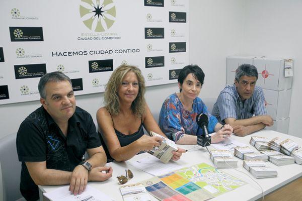 Un nuevo plano promociona los recursos turísticos  y el comercio de Estella