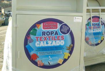 Mancomunidad instala contenedores para textil, ropa y calzados en veinte localidades