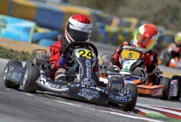 Luis Martínez quedó tercero en la competición de karting del Circuito de Navarra