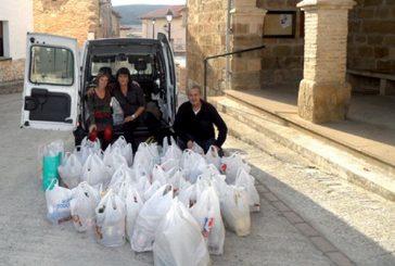 La solidaridad en Zufía se mide por kilos