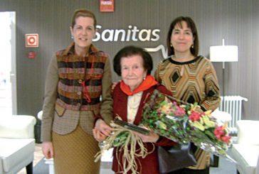 Ángeles Miquélez García cumplió 104 años en la residencia La Luz de Estella