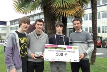 Tres alumnos del colegio El Puy ganan un concurso  nacional sobre ingenio y diseño
