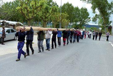 Murieta colocó su 'mayo' en el frontón de la localidad
