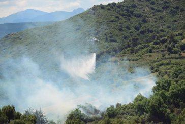 Un incendio forestal en Belástegui obligó al desalojo de diez unifamiliares