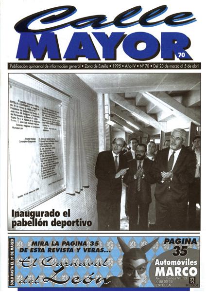 CALLE MAYOR 070 – INAUGURADO EL PABELLÓN DEPORTIVO