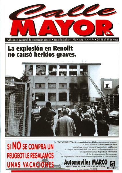 CALLE MAYOR 074 – LA EXPLOSIÓN EN RENOLIT NO CAUSÓ HERIDOS GRAVES.