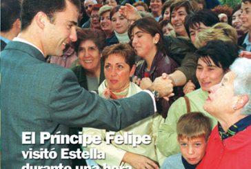 CALLE MAYOR 225 – EL PRÍNCIPE FELIPE VISITÓ ESTELLA DURANTE UNA HORA