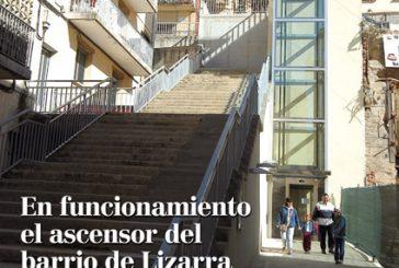 CALLE MAYOR 306 – EN FUNCIONAMIENTO EL ASCENSOR DEL BARRIO DE LIZARRA