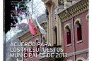 CALLE MAYOR 506 – ACUERDO PARA LOS PRESUPUESTOS MUNICIPALES DE 2013