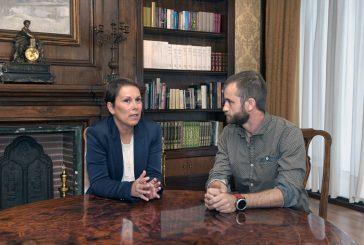 Reunión del alcalde Leoz con la presidenta Barkos sobre la carta de capitalidad