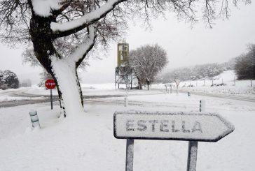 Nieve en los puntos altos de Tierra Estella