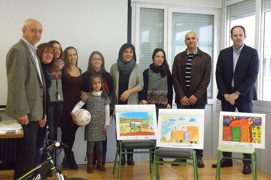 Saray Quintanilla, ganadora del Certamen de Pintura Rural para niños de 6 a 10 años
