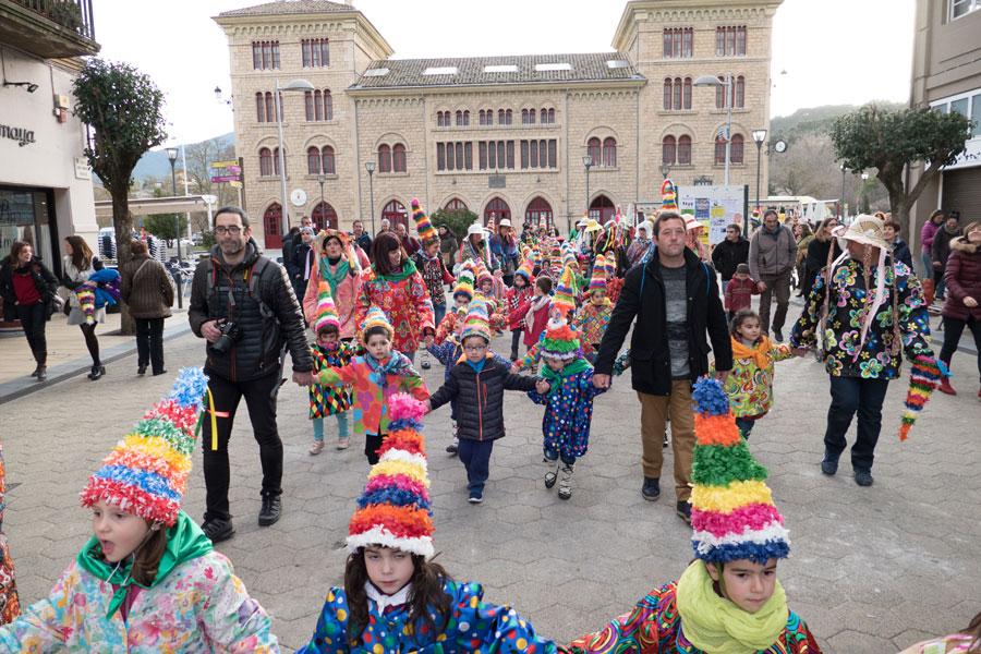 Lizarra Ikastola celebró el 'Carnaval de los Palokis'