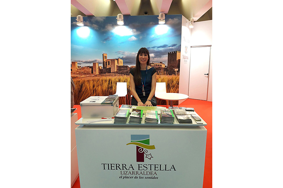 Edurne Azcona, del Consorcio Turístico, en Sevatur.