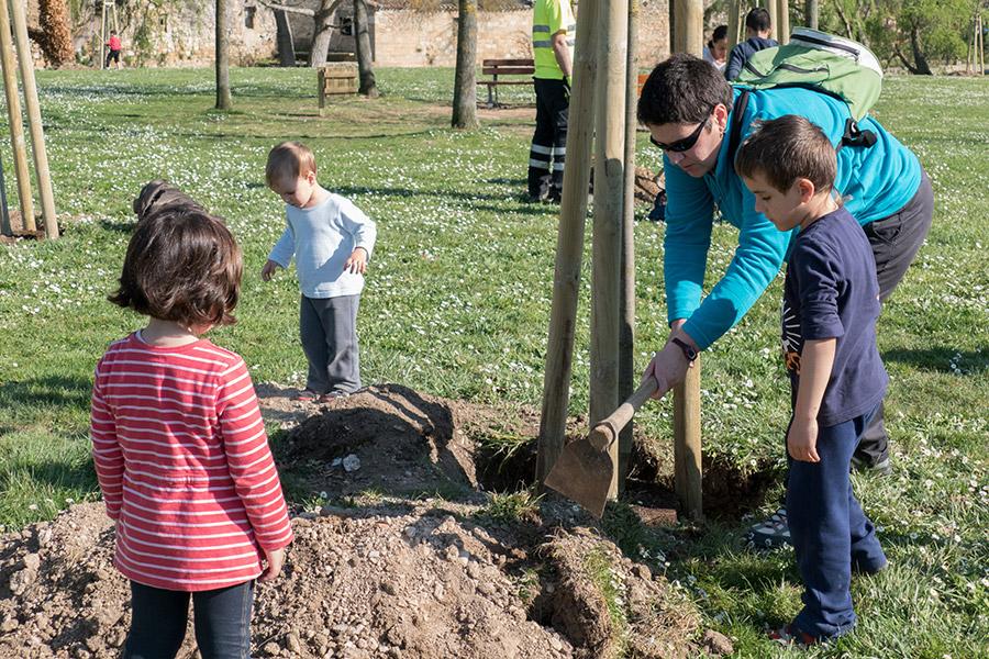 La campa del Santo Sepulcro, escenario del Día del Árbol