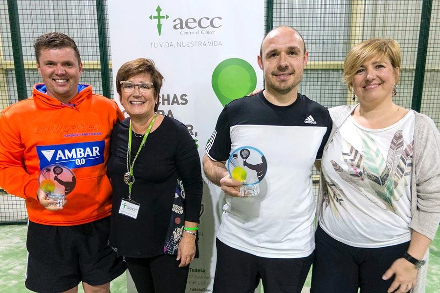 Éxito del I Torneo Solidario de Pádel contra el cáncer