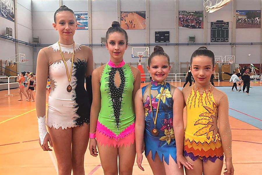 La gimnasta Edurne Labeaga, medalla de bronce