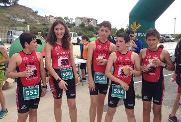 Buenos resultados para el Tri Ur Gazia en el primer triatlón de la temporada