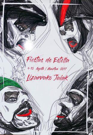 Cartel de Fiestas de Estella 2017.