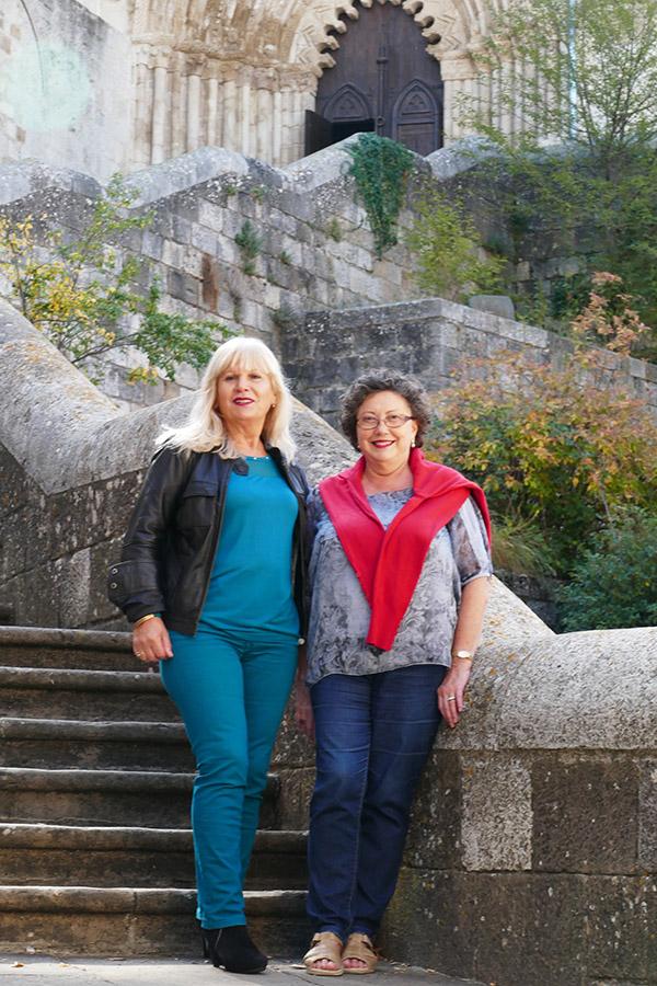 Loli Azparren y Rosa María Benito