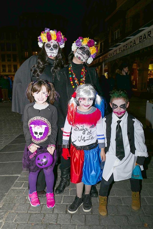 Las calles de Estella se llenaron de terror la noche de Halloween