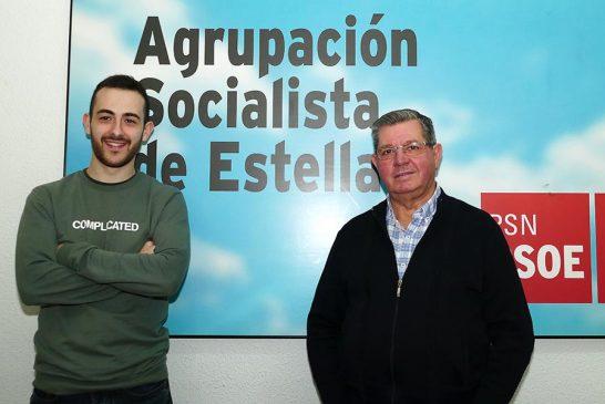 PRIMER PLANO – Jorge Crespo e Ignacio Sanz de Galdeano – Cambio de vara de mando en el PSN de Estella