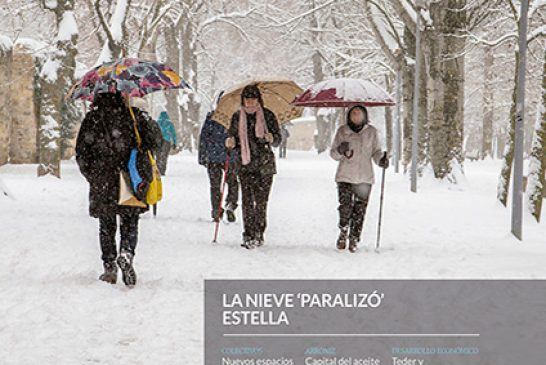 CALLE MAYOR 630 – LA NIEVE 'PARALIZÓ' ESTELLA