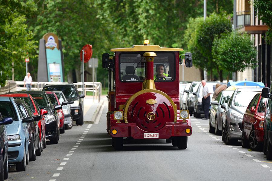 El tren turístico de Estella retoma su actividad