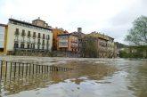 El río Ega alcanzó en Estella los 4'08 m de nivel