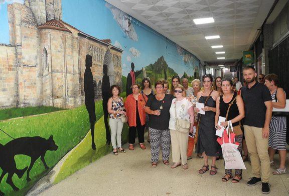 Inaugurado con poesía y música el nuevo mural del pasaje de Santiago