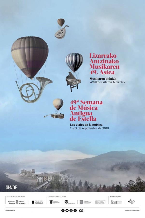'Los viajes de la música' centra la Semana de Música Antigua de Estella