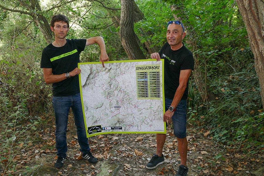 """PRIMER PLANO – Iñigo Labat y Txuma Andueza – Organizadores de la Epic Tierra Estella – """"La prueba enlaza los senderos legendarios de la zona"""", """"No pensábamos crecer tan rápido, aunque teníamos confianza en el recorrido"""""""