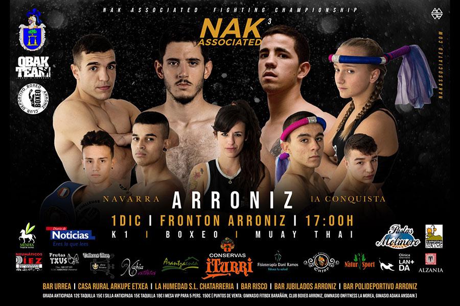 Arróniz celebra el 1 de diciembre su primera 'Velada de Boxeo'
