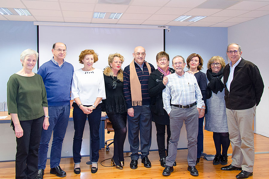 Homenaje a los jubilados en la Zona Básica de Salud de Estella-Lizarra