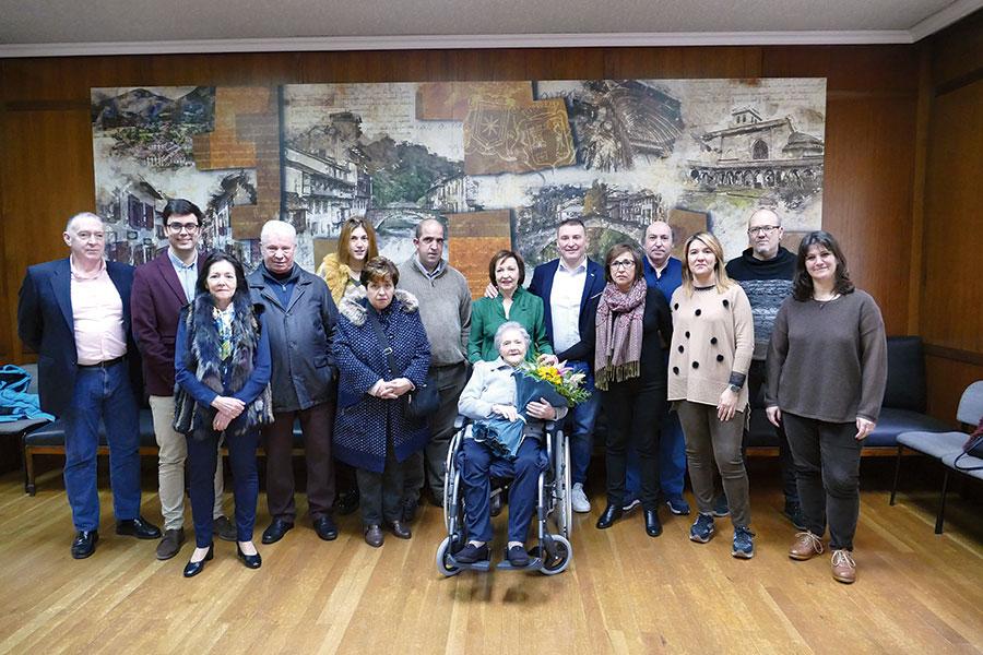 Felisa Martínez de la Hidalga, nueva centenaria de Estella