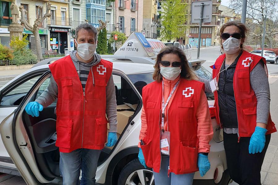 Cruz Roja Estella reparte 140 lotes de alimentos a menores con beca comedor