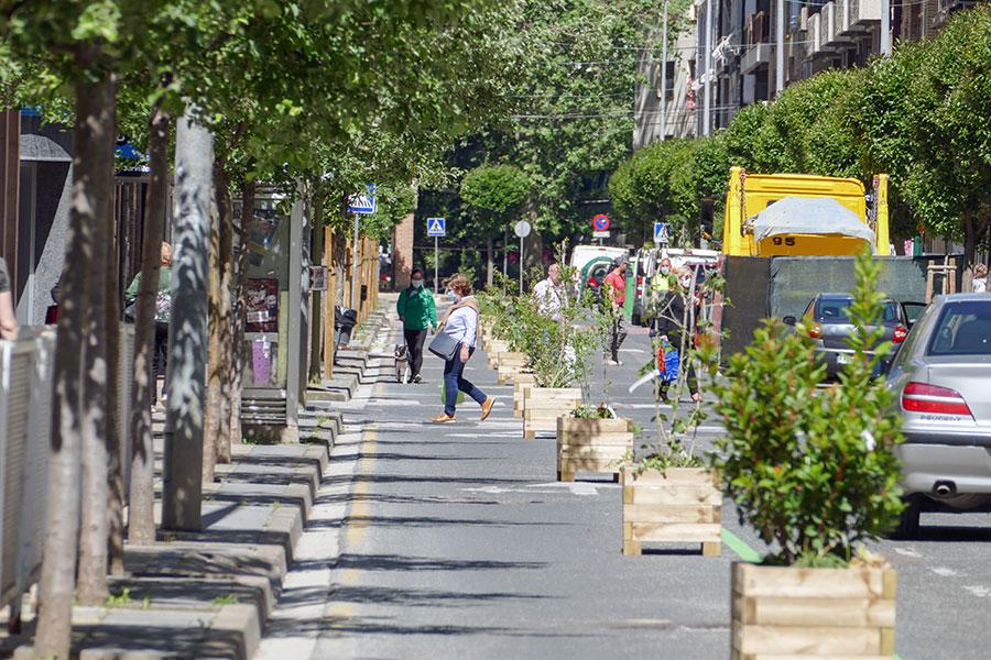 El carril izquierdo del Paseo de la Inmaculada y San Andrés se vuelven peatonales